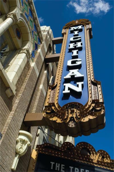 Michigan Theatre sign