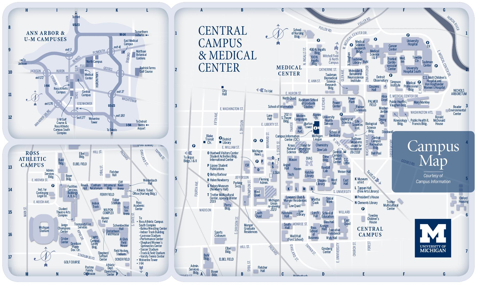 CAMPUS MAPS | University of Michigan Online Visitor's Guide